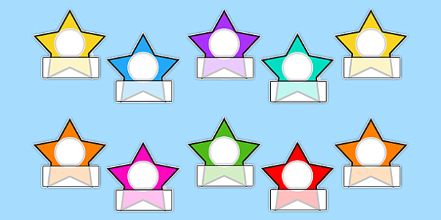 Editable Star Photo Self Reg Labels - self registration, photo