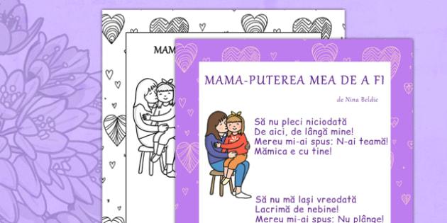 Poezie Mama Puterea Mea de a Fi, Nina Beldie - ziua mamei, martie