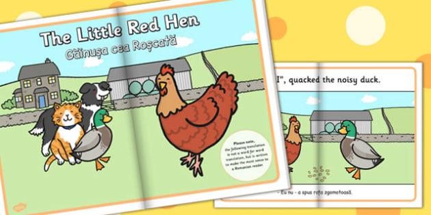 The Little Red Hen eBook EAL Romanian Translation - Romanian