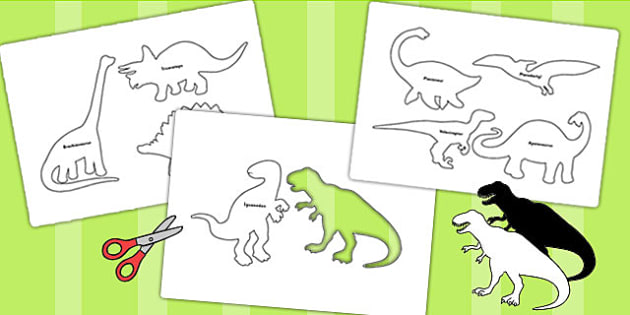 Dinosaur Shadow Puppets - dinosaurs, role play, roleplay, props