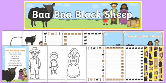 Baa Baa Black Sheep Resource Pack