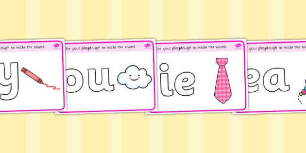 Phase 5 Playdough Mats - Playdough mat, playdough resources, phase 5, DfES, letters and sounds, literacy, alphabet, letters, playdough