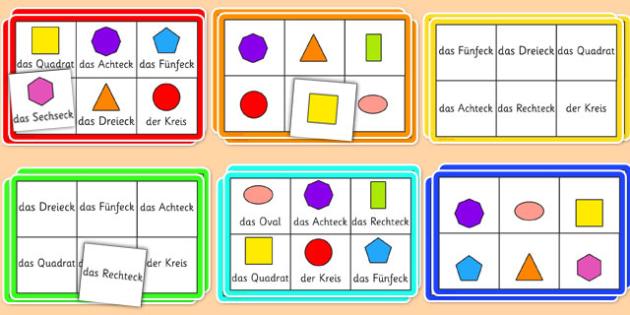 2D Shape Bingo German - german, 2d shape, bingo, 2d, shape, activity