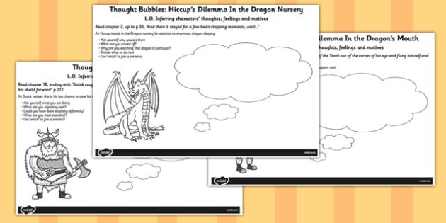 How to Train Your Dragon Thought Bubble Pack - Dragon, Train