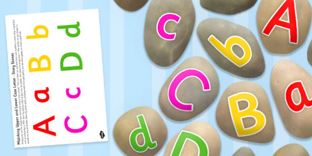 Matching Upper and Lower Case Letter Stone Cut Outs - letter stone