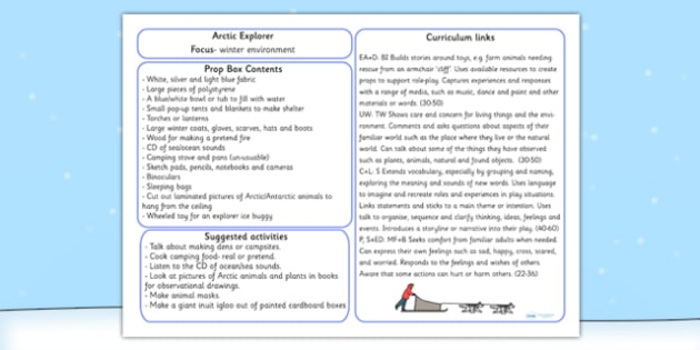 Arctic Explorer Prop Box Plan - role play, arctic roleplay, props