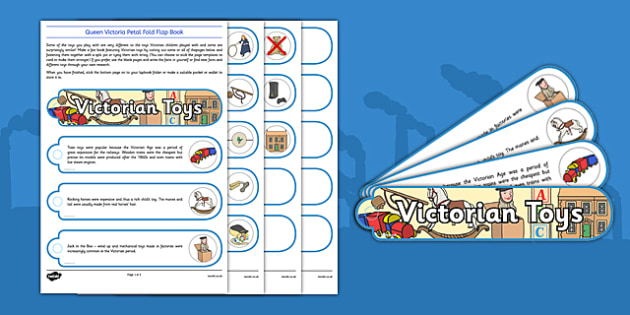 The Victorians Toys Fan Book - Marbles, rocking horse, hoop, jack in the box, pastimes