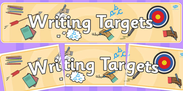 Writing Targets Display Banner - writing, targets, display banner