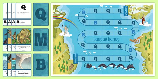Longboat Journey Board Game - longboat, journey, board game