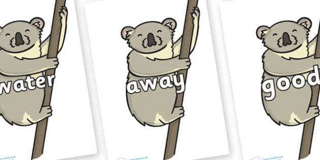 Next 200 Common Words on Koalas - Next 200 Common Words on  - DfES Letters and Sounds, Letters and Sounds, Letters and sounds words, Common words, 200 common words