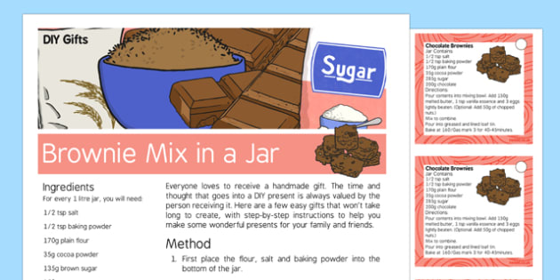 DIY Gifts Brownie Mix in a Jar Recipe