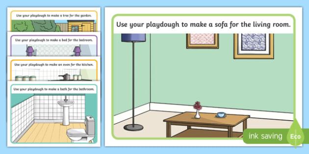 Inside a Home Playdough Mats