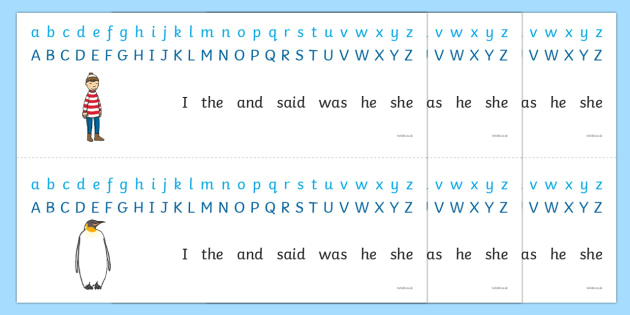 Alphabet Strips to Support Teaching on Lost and Found - alphabet, a-z, visual aid, strip