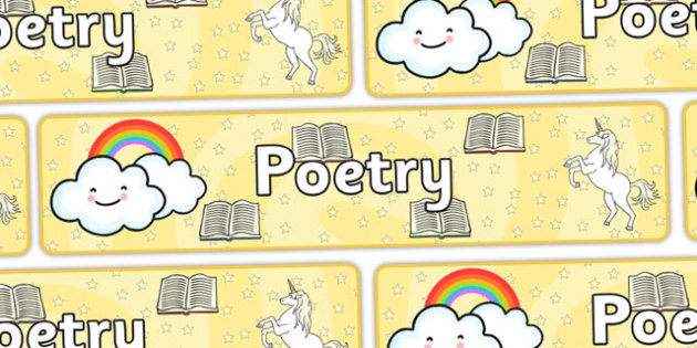 Poetry Display Banner - Display banner, poetry, poem, literacy, writing, independent writing, display, banner, poetry display, poem display