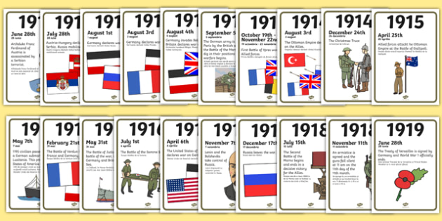 World War One A4 Display Timeline Romanian Translation - romanian, world war one, a4, display