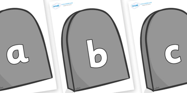 Phoneme Set on Gravestones - Phoneme set, phonemes, phoneme, Letters and Sounds, DfES, display, Phase 1, Phase 2, Phase 3, Phase 5, Foundation, Literacy