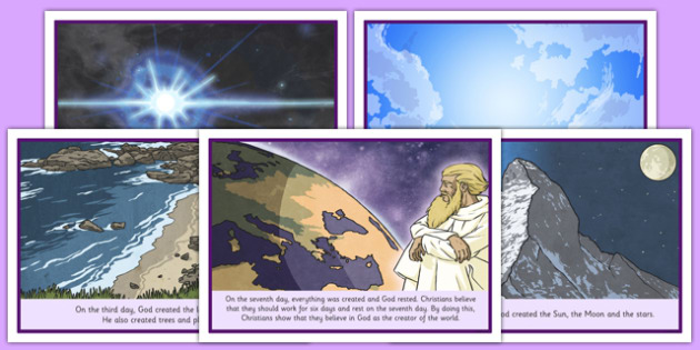 Judeo Christian Creation Story Sequencing Cards