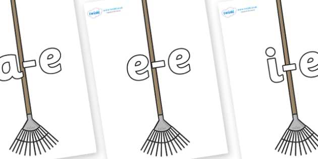 Modifying E Letters on Garden Rakes - Modifying E, letters, modify, Phase 5, Phase five, alternative spellings for phonemes, DfES letters and Sounds