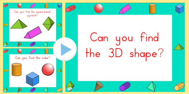 Can You Find the 3D Shape PowerPoint Australian - australia