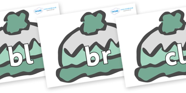 Initial Letter Blends on Woolly Hats (Plain) - Initial Letters, initial letter, letter blend, letter blends, consonant, consonants, digraph, trigraph, literacy, alphabet, letters, foundation stage literacy