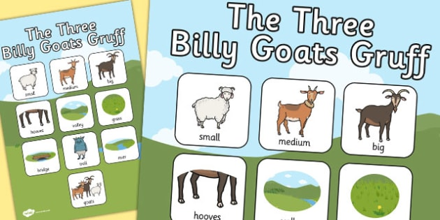 The Three Billy Goats Gruff Vocabulary Poster - vocabulary, goats