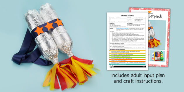Superhero Jetpack EYFS Adult Input Plan and Craft Pack - craft