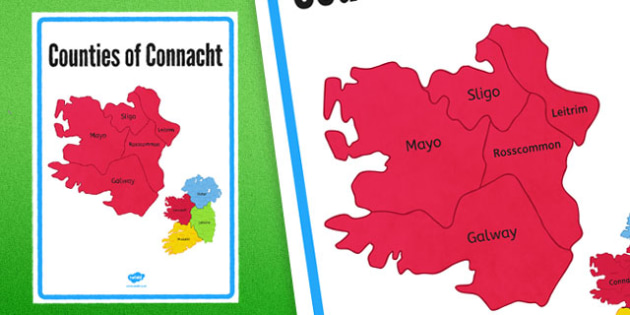 Counties of Connacht Display Poster - counties, connacht, display poster, display, poster