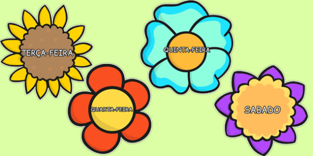 Os dias da semana Portuguese - portuguese, days, week, days of the week