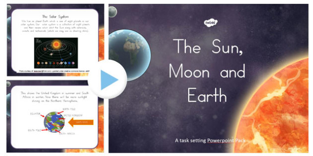 Sun, Moon and Earth Overview Differentiated Lesson Teaching Pack