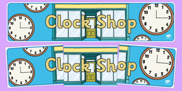 Clock Shop Role Play Banner - clock shop, role play, clock, shop, roleplay, banner