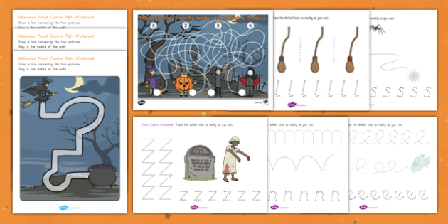 Halloween Themed Pencil Control  Activity Pack