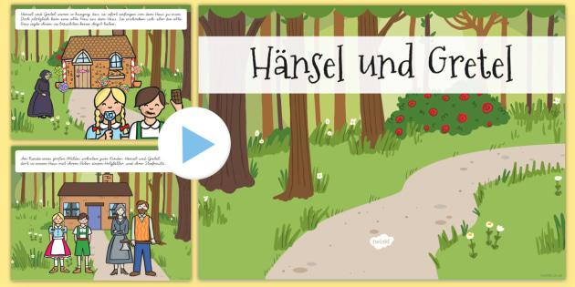Hänsel und Gretel Märchen PowerPoint - Hänsel und Gretel, Märchen, PowerPoint, German