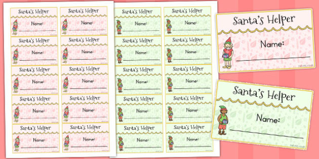 Santas Helper Badges - australia, santa, helper, christmas, badge