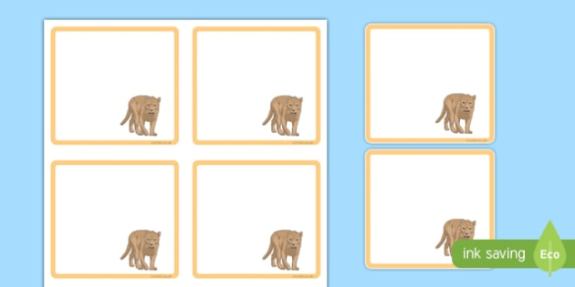 Puma Themed Editable Drawer-Peg-Name Labels (Colourful) - Themed Classroom Label Templates, Resource Labels, Name Labels, Editable Labels, Drawer Labels, Coat Peg Labels, Peg Label, KS1 Labels, Foundation Labels, Foundation Stage Labels, Teaching Lab