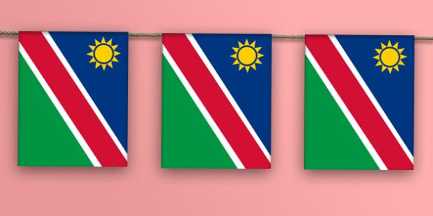 Namibia Flag Display Bunting - countries, geography, display