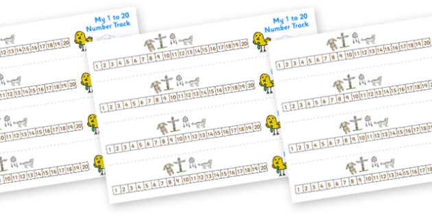 Native American Number track (1-20) - Maths, Math, native americans, number track, numbertrack, Counting, Numberline, Number line, Counting on, Counting back, Native Americans, indian, moccasin, bow and arrow, dream catcher, wild west