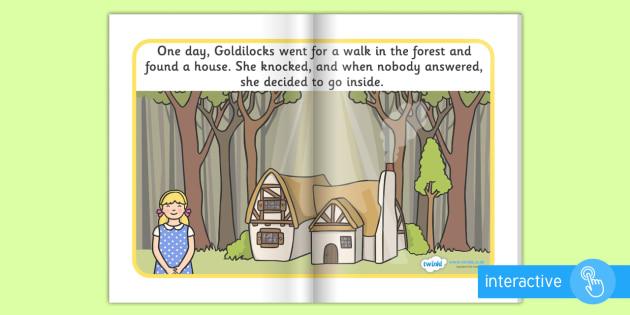 Goldilocks and the Three Bears eBook - books, interactive books