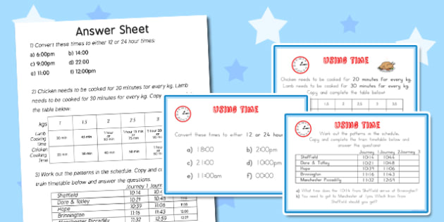 Using Time Maths Challenge Cards - australia, using, time, maths, challenge