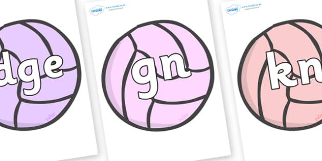 Silent Letters on Balls - Silent Letters, silent letter, letter blend, consonant, consonants, digraph, trigraph, A-Z letters, literacy, alphabet, letters, alternative sounds