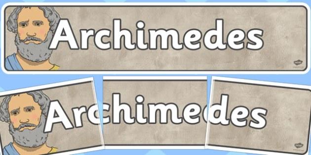 Archimedes Display Banner - archimedes, display banner, display