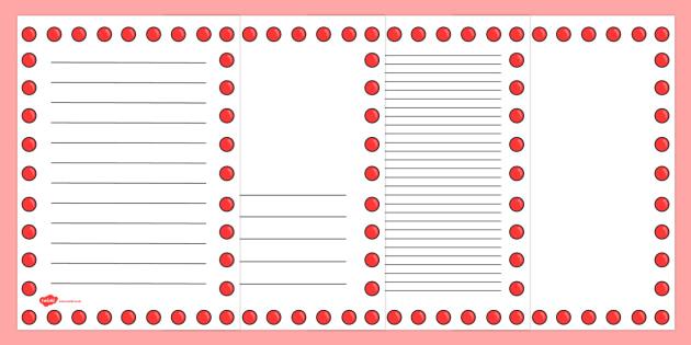 Red Nose Day Page Borders - red nose day, page borders, borders