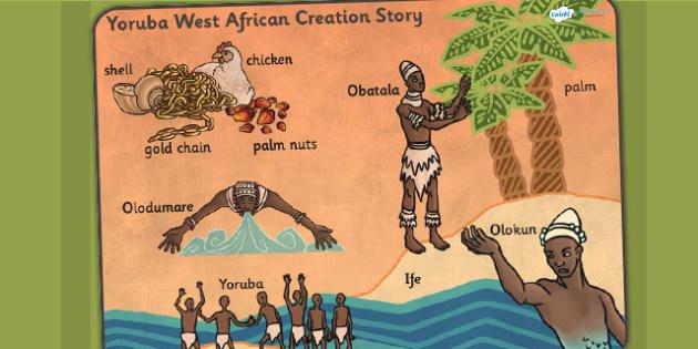 Kingdom of Benin: Yoruba Creation Story Word Mat
