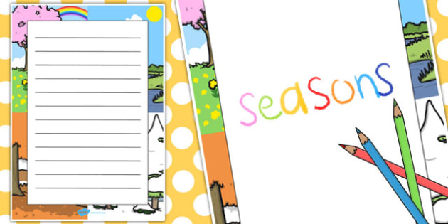 Seasons Decorative Page Border - seasons, decorative, page border