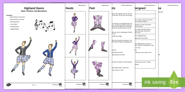 Teaching the Basics of Highland Dance Adult Guidance - Swan Lake - Responding to Dance,Scottish, Highland dance, traditional