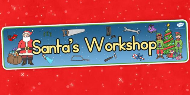 Australia Santas Workshop Display Banner - santa, display banner, christmas