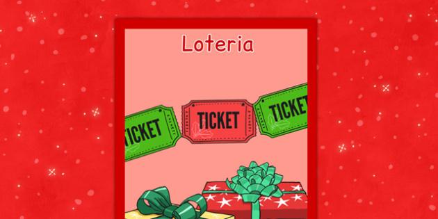 Świąteczny plakat Loteria po polsku - święta, kiermasz, zabawy