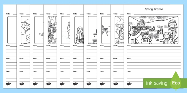 Picture and Story Writing Template