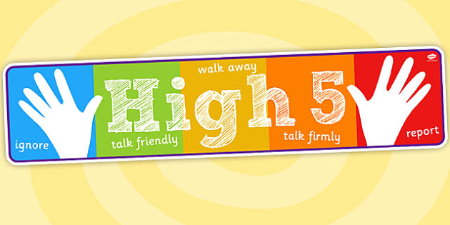 High Five How To Deal with Bullying Display Banner - displays