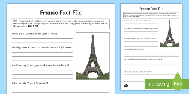 France Fact File - CfE Technologies, research, France, French