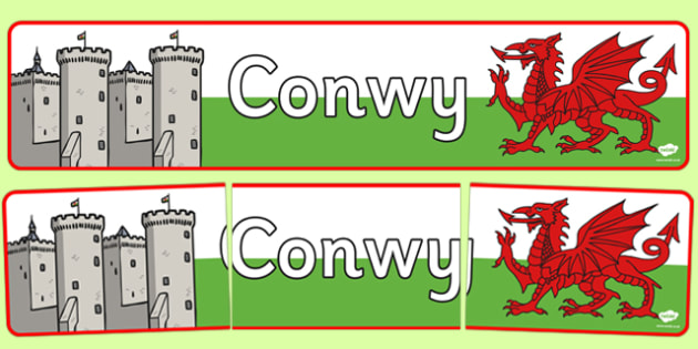 Conwy Display Banner - conwy, display banner, display, banner, castle, wales, welsh